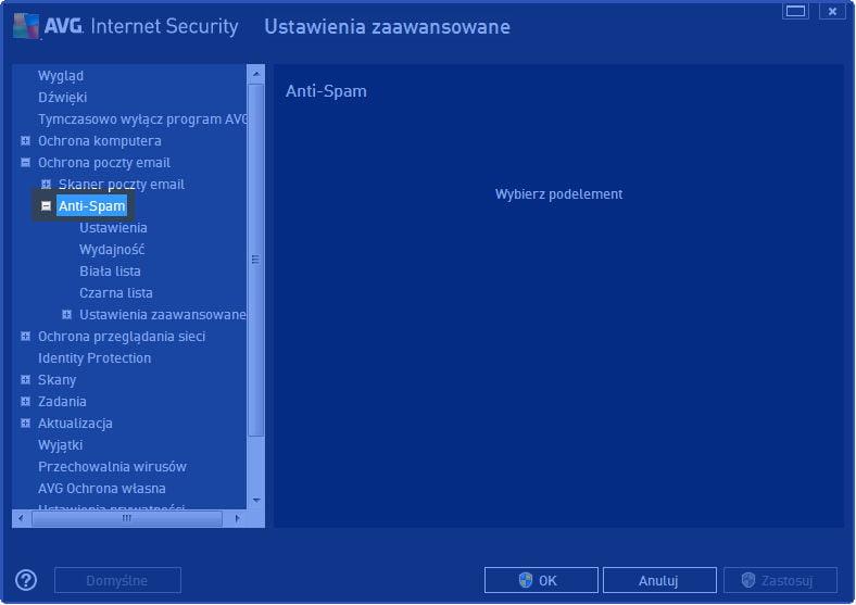 AVG_poczta_003 - konfiguracja opcji AVG Internet Security