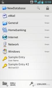 KeePass2Android - KeePass z bazą haseł w chmurze