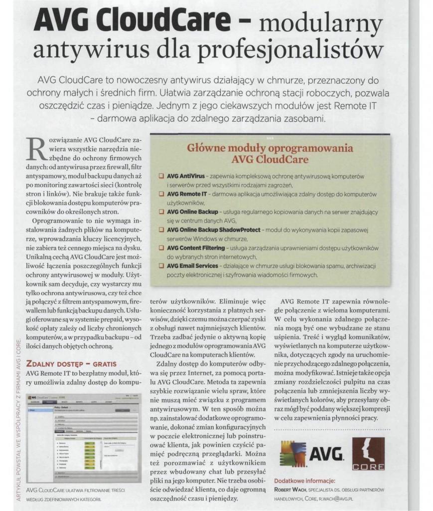 Nowy tekst o CRN o AVG