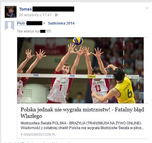 Tak wygląda likejacking z siatków na Facebooku
