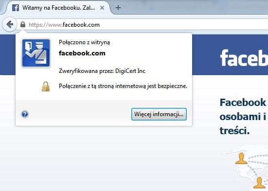facebook połączenie szyfrowane