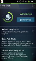 Hasło w AVG Antywirus Anti-Theft zostało założone