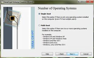 Ilość systemó operacjnych do szyfrowania VeraCrypt