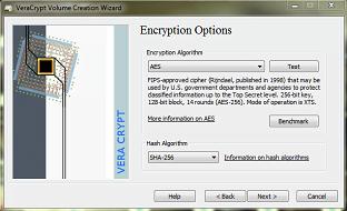 Wybieray algorytm - VeraCrypt