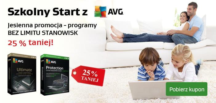 Odbierz kupon rabatowy na programy AVG