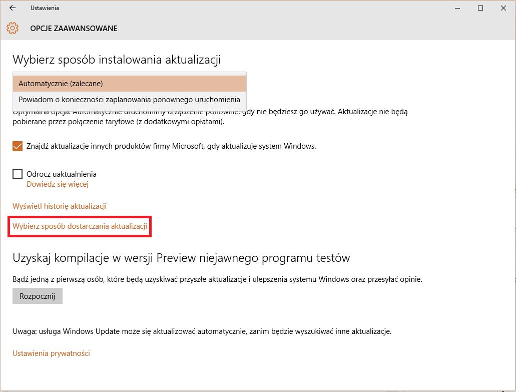 Nie instalujemy aktualizacji automatycznie