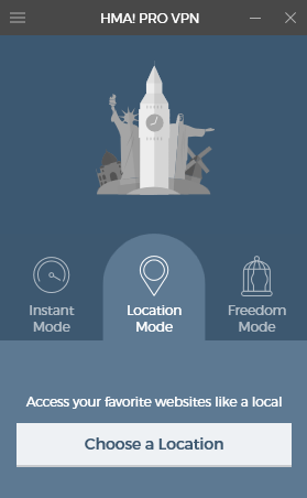 Zakładka umożliwiająca precyzyjny wybór miejsca, gdzie chcemy wyszukać VPN.