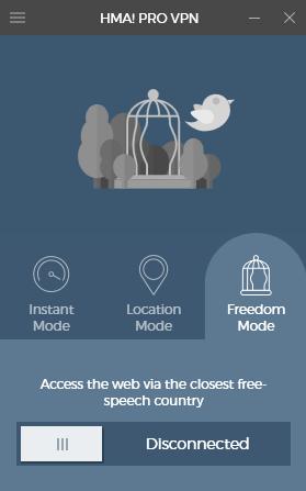 Wyszukanie automatyczne najbliższego kraju, gdzie możliwe jest swobodne surfowanie po sieci.
