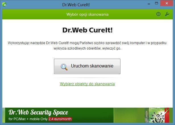 Dr.WEB CureIt - panel