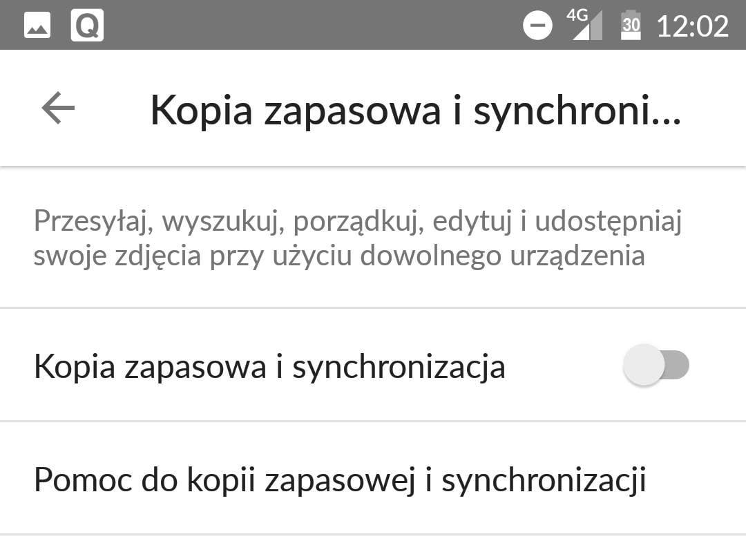 Włączamy synchronizację plików