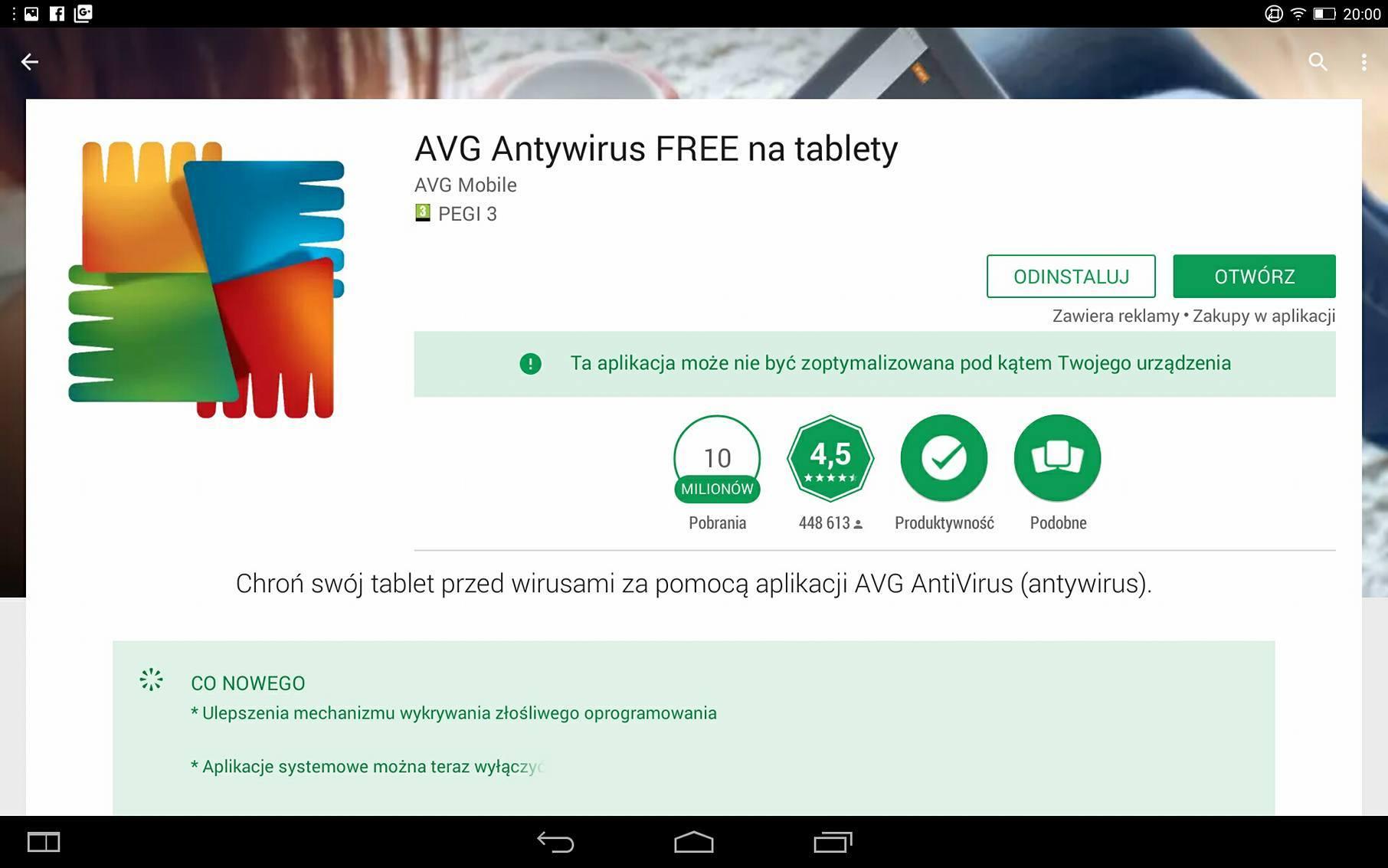 Strona sklepowa AVG Free
