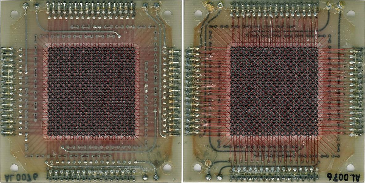 Pamięć RAM komputera pokładowego misji Apollo