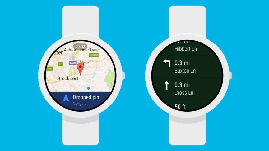 Google Maps w wersji na smartwatch z system Wear OS