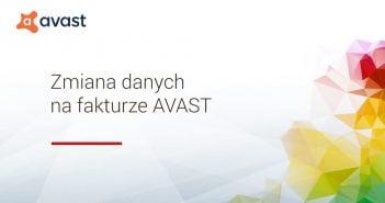 Jak zmienić dane na fakturze w AVAST?