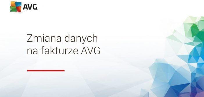 Jag zmienić dane na fakturze AVG?
