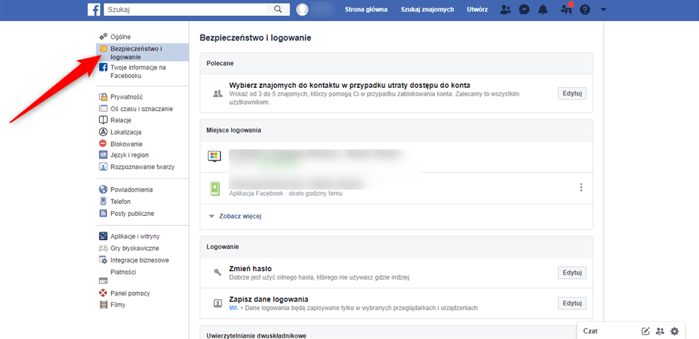 Jak ustawić dwuskładnikowe uwierzytelnianie na Facebooku?