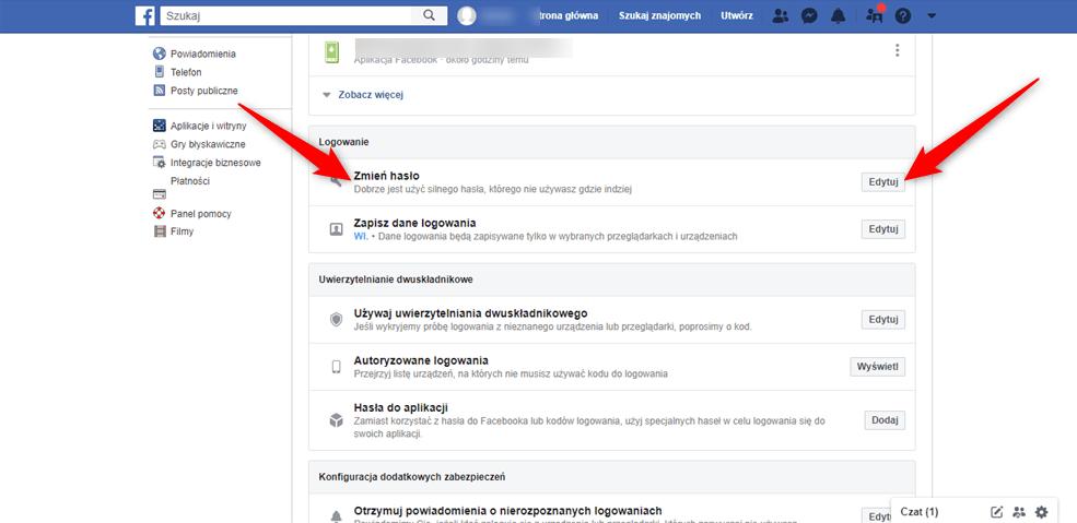 Jak krok po korku zmienić hasło na Facebooku?