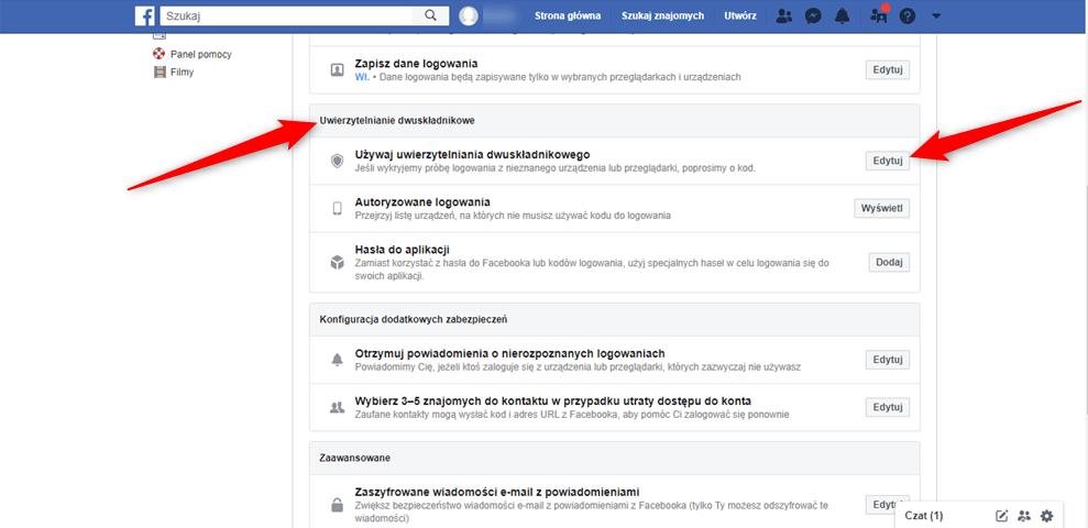 Jak krok po kroku włączyć uwierzytelnianie dwuskładnikowe na Facebooku?