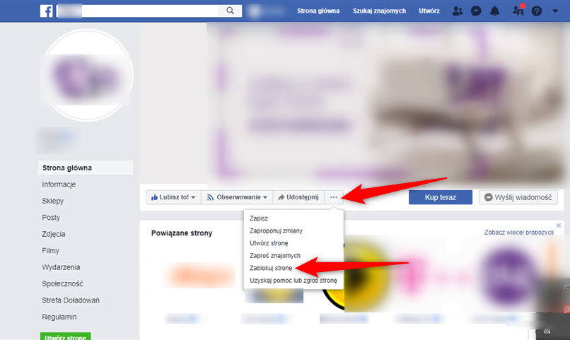 Jak zablokować stronę na Faceboku.