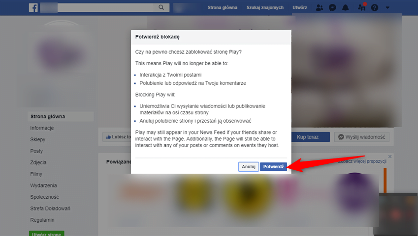 Jak zablokować stronę dostępną na Facebooku?
