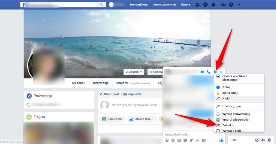 Jak zablokować wiadomości z Facebooka?
