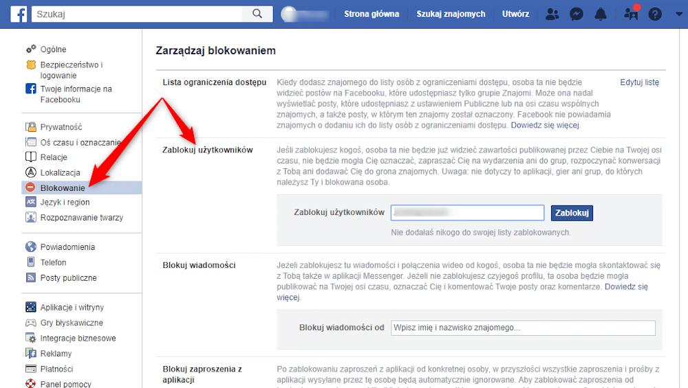 Jak zablokować użytkowników na Facebooku?