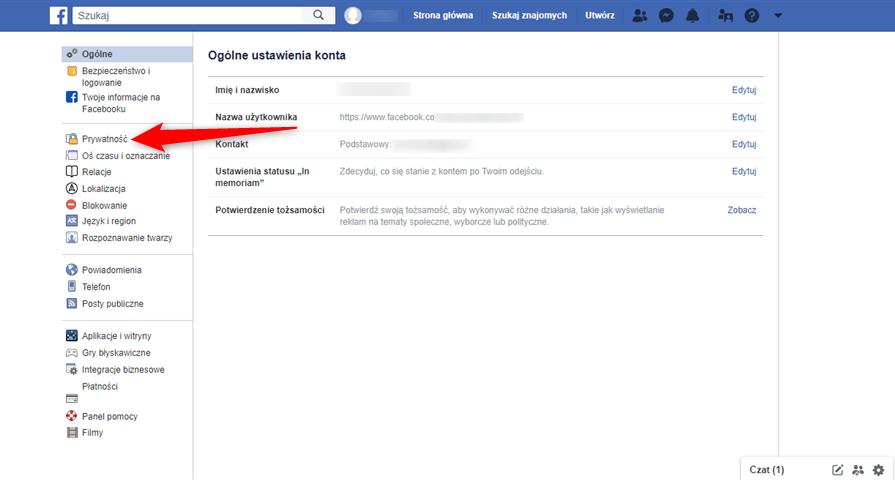 Jak ustawić prywatność postów na portalu Facebook?