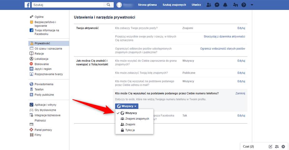Wyznaczenie kot może wyszukać nas profil z Facebooka poprzez inną wyszukiwarkę.