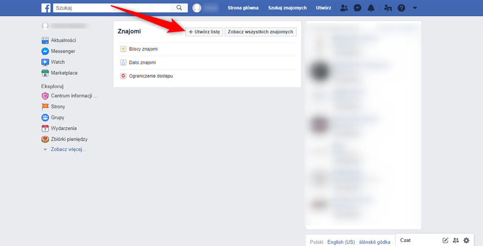 Poradnik jak tworzyć listy znajomych na Facebooku.
