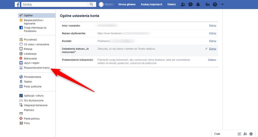 Jak krok po kroku wyłączyć rozpoznawanie twarzy na Facebooku.