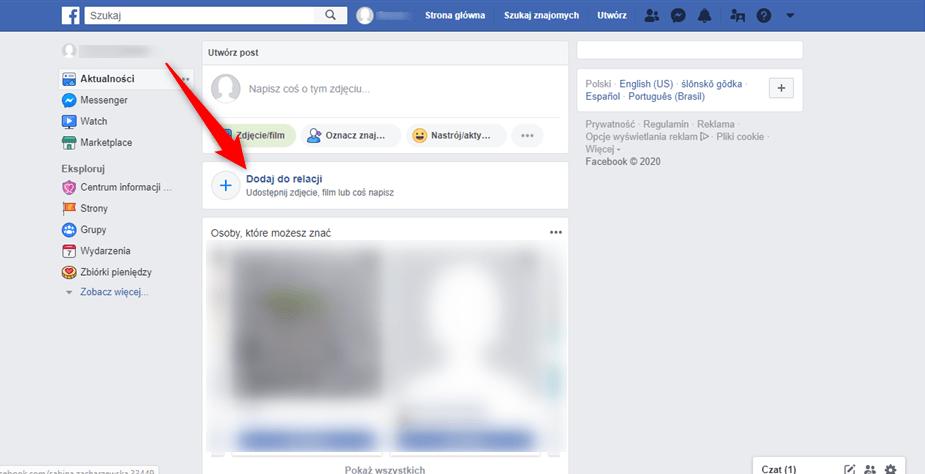 Jak zablokować dostęp do relacji na Facebooku.