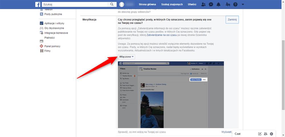 Jak włączyć funkcję braku oznaczeń na Facebooku.