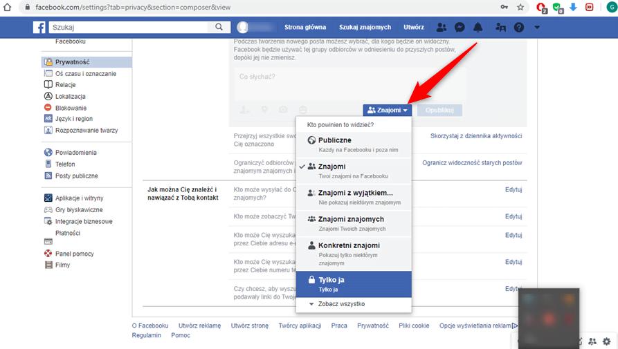 Poradnik jak sprawić by posty na Facebooku pozostały prywatne.