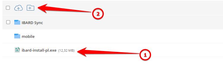 Jak dodać nowy folder w aplikacji IBARD?