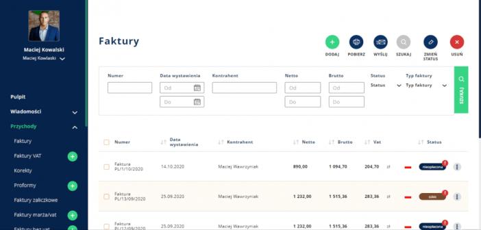 Aplikacja do wystawiania faktur Taxon.