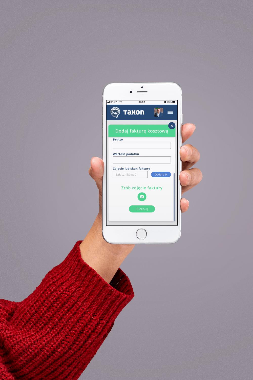 Aplikacja mobilna Taxon.