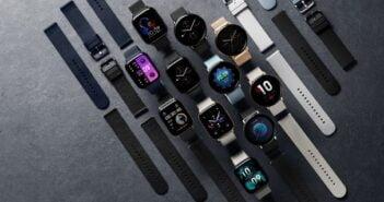 Smartwatch amazfit w różnych odmianach.