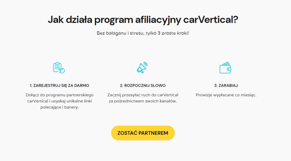 Jak zarabiać dzięki programowi afiliacyjnemu carVertical.