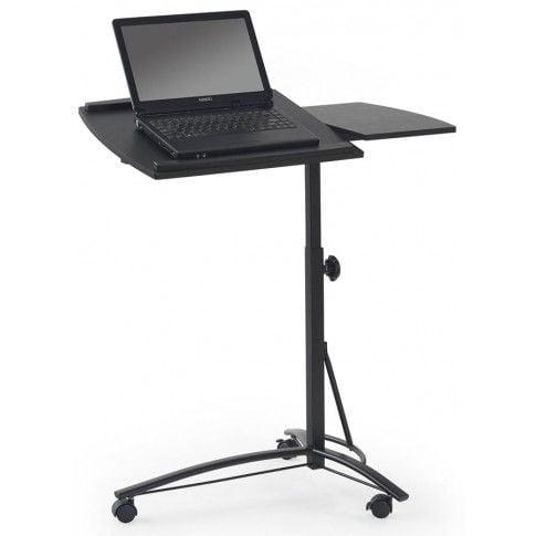 Stolik pod laptopa z możliwością regulowania wysokości.